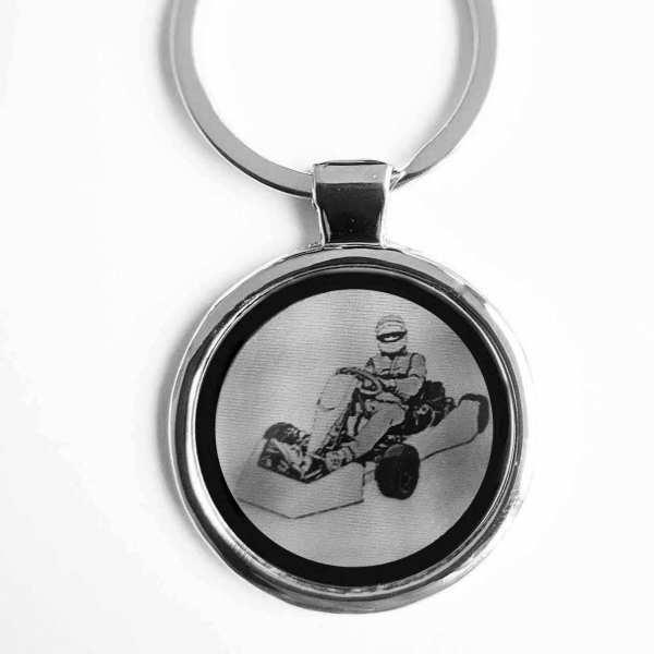 Kartfahrer Gravur Schlüsselanhänger personalisiert