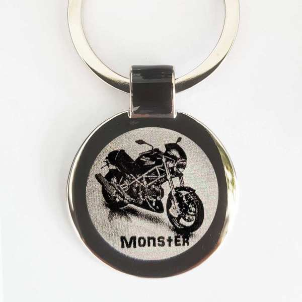 Ducati Monster Gravur Schlüsselanhänger personalisiert - original Fotogravur