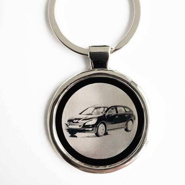 Peugeot 508 SW Gravur Schlüsselanhänger personalisiert - original Fotogravur