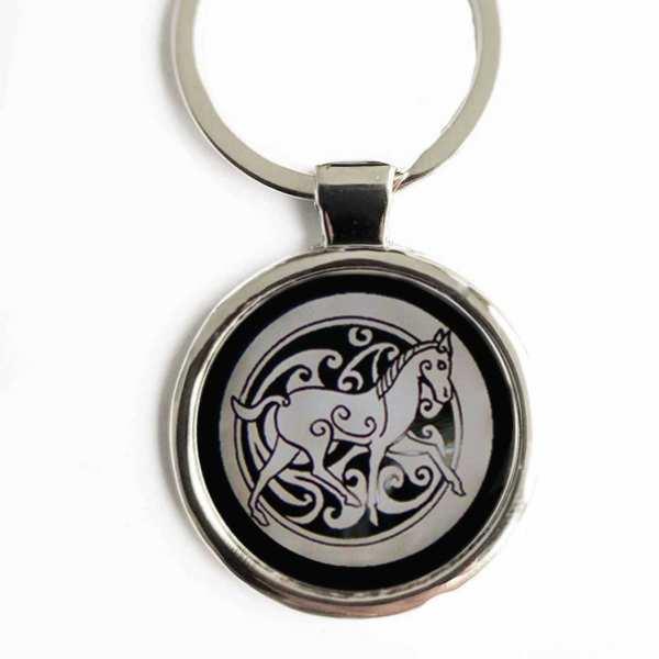 Totemtier Pferd Schlüsselanhänger personalisiert mit Gravur