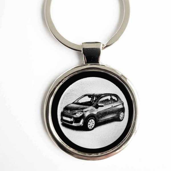 Citroen C1 ab 2019 Gravur Schlüsselanhänger personalisiert - original Fotogravur