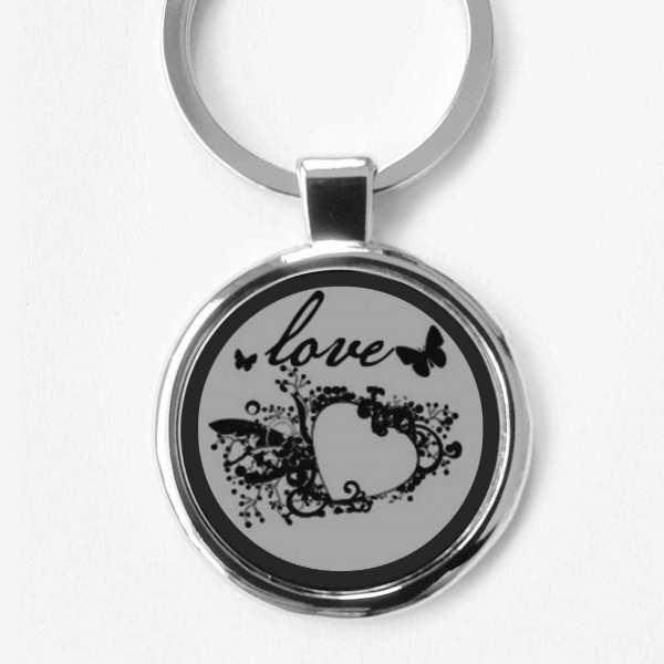 love ♥ Liebesmotiv mit Herz Gravur Schlüsselanhänger personalisiert