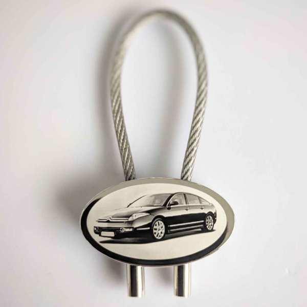 Citroen C6 Schlüsselanhänger personalisiert - original Fotogravur