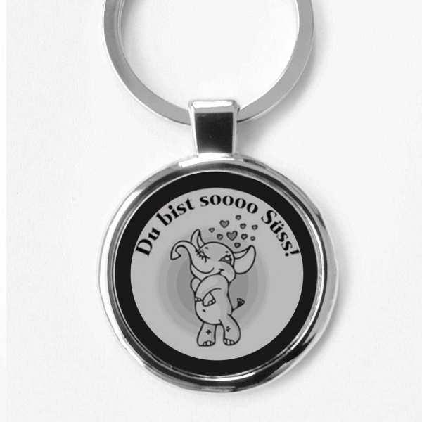 Love Elefant zum Valentinstag Schlüsselanhänger personalisiert
