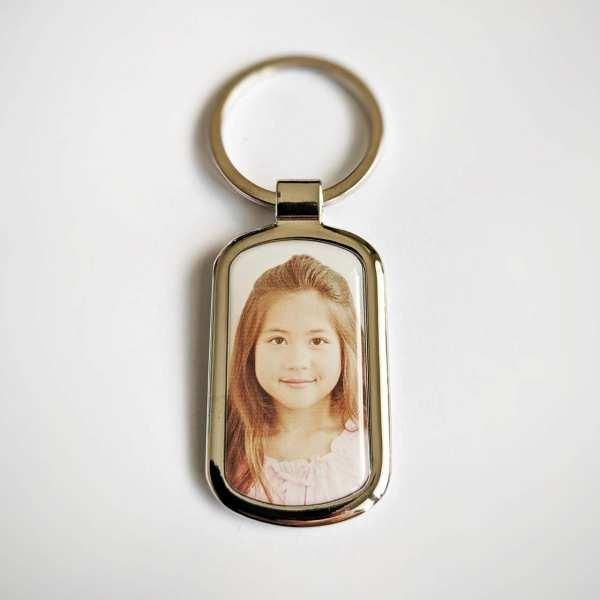 Schlüsselanhänger mit eigenem Foto und Textgravur