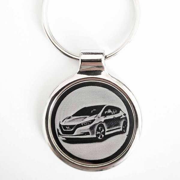 Nissan Leaf ab 2019 Gravur Schlüsselanhänger personalisiert - original Fotogravur