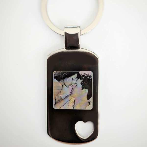 Fotogravur Schlüsselanhänger personalisiert mit Herz ♥