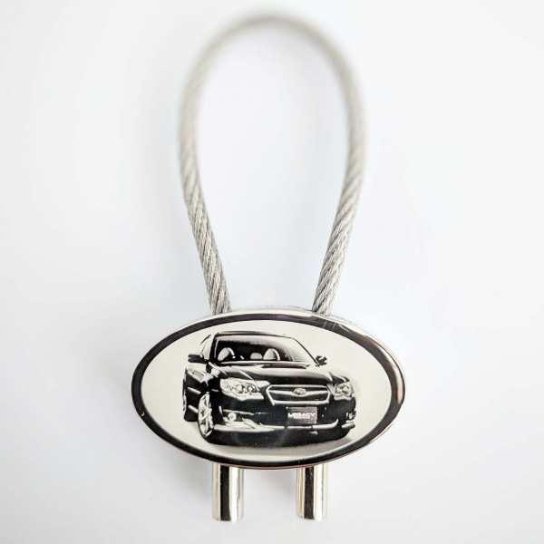 Subaru Legacy Schlüsselanhänger personalisiert - original Fotogravur