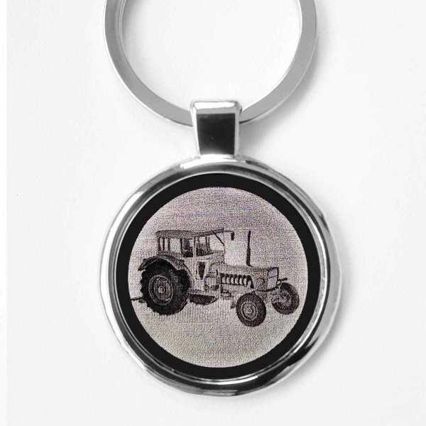 Eicher Wotan 2 Traktor Gravur Schlüsselanhänger personalisiert - original Fotogravur