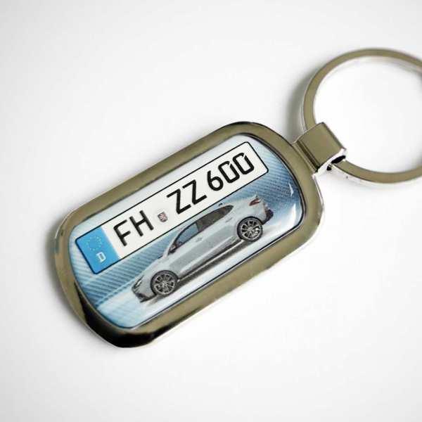 Kennzeichen Schlüsselanhänger personalisiert Hyundai i30n Fastback mit persönlicher Gravur