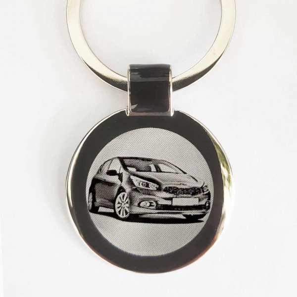 Kia Ceed Modell 2014 Schlüsselanhänger personalisiert - original Fotogravur mit Gravur