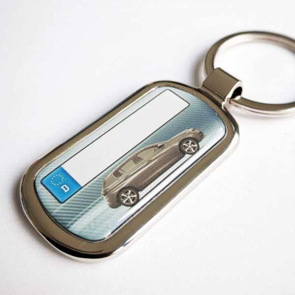 Peugeot 308 Schlüsselanhänger personalisiert & Kennzeichen & Gravur auf der Rückseite