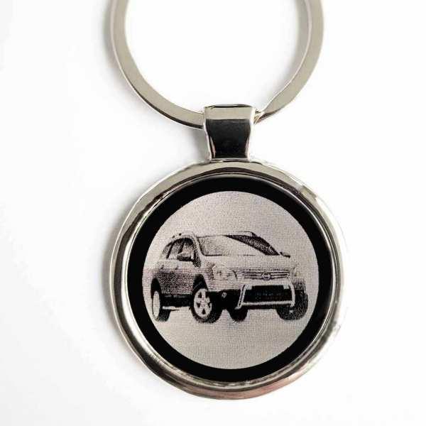 Nissan Qashqai Gravur Schlüsselanhänger personalisiert - original Fotogravur