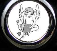 Schlüsselanhänger Engel mit Textgravur