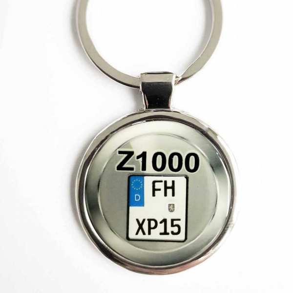 Kawasaki Z1000 Kennzeichen Schlüsselanhänger personalisiert & Gravur