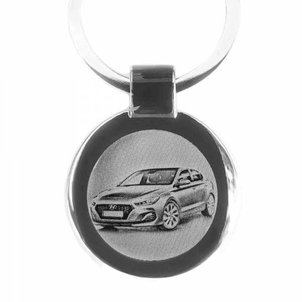 Hyundai i30 Fastback Schlüsselanhänger personalisiert - original Fotogravur