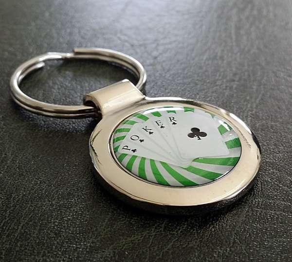 Poker Blatt Fotoschlüsselanhänger
