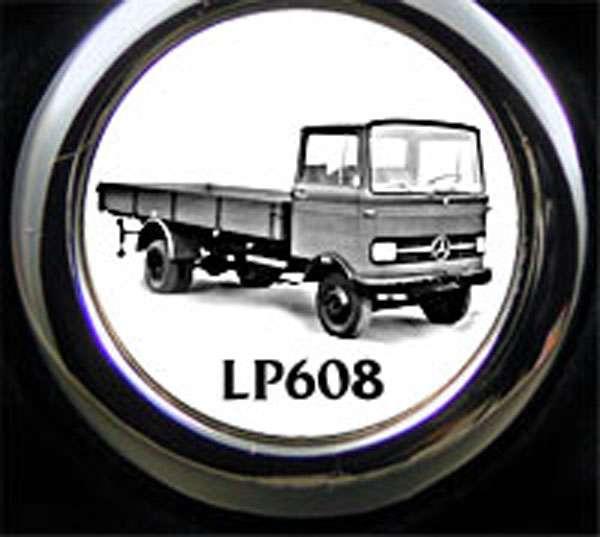 Mercedes LP608 LKW Schlüsselanhänger personalisiert
