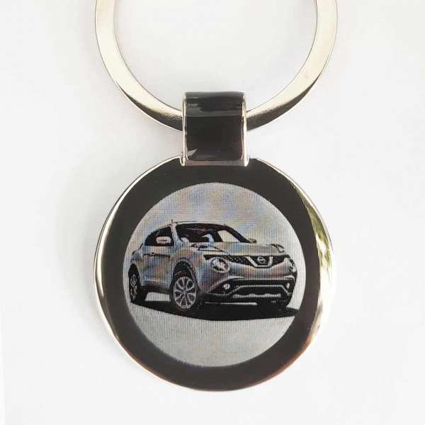 Nissan Juke ab 2019 Gravur Schlüsselanhänger personalisiert - original Fotogravur