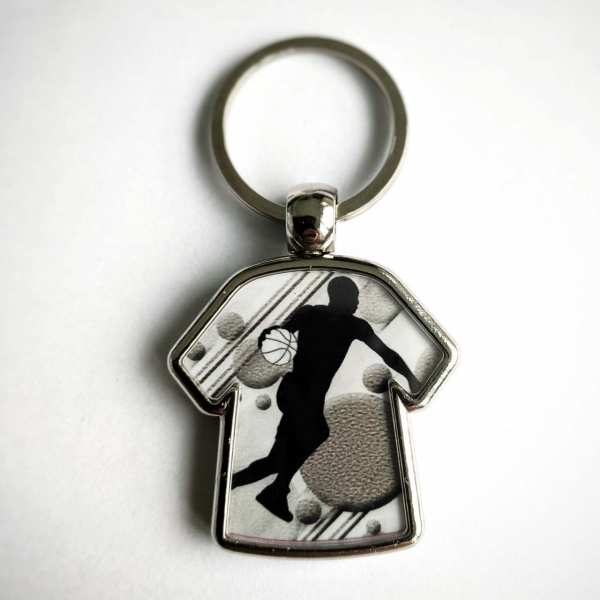 Basketballer T-Shirt Schlüsselanhänger personalisiert