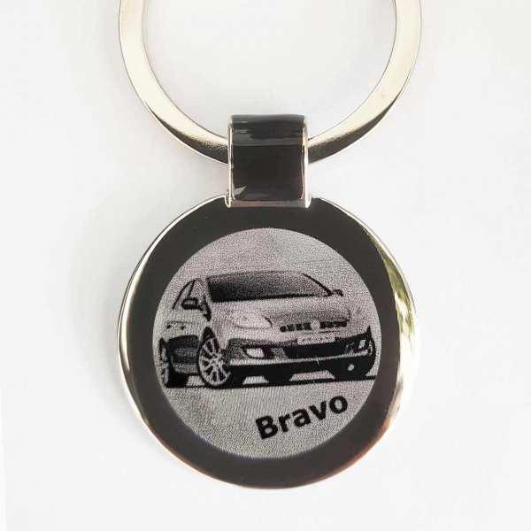 Fiat Bravo Gravur Schlüsselanhänger personalisiert - original Fotogravur