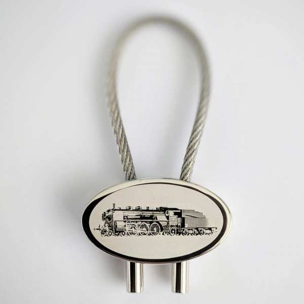 Dampflok BR18.4 Schlüsselanhänger - original Fotogravur