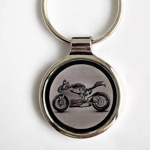 Ducati 1199 Panigale Gravur Schlüsselanhänger personalisiert - original Fotogravur
