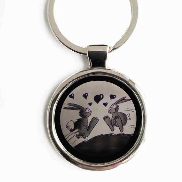 Hase Liebesgeschenk Schlüsselanhänger personalisiert