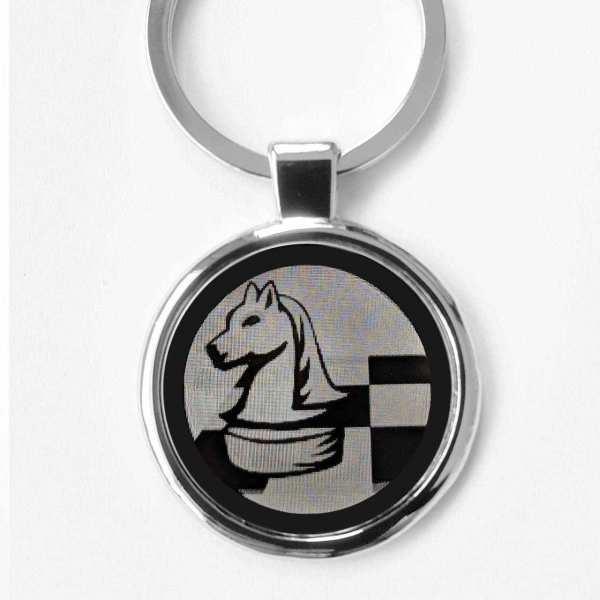 Schach Schachspieler Schlüsselanhänger personalisiert - original Fotogravur