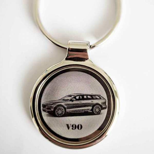Volvo V90 Cross Country Schlüsselanhänger personalisiert - original Fotogravur