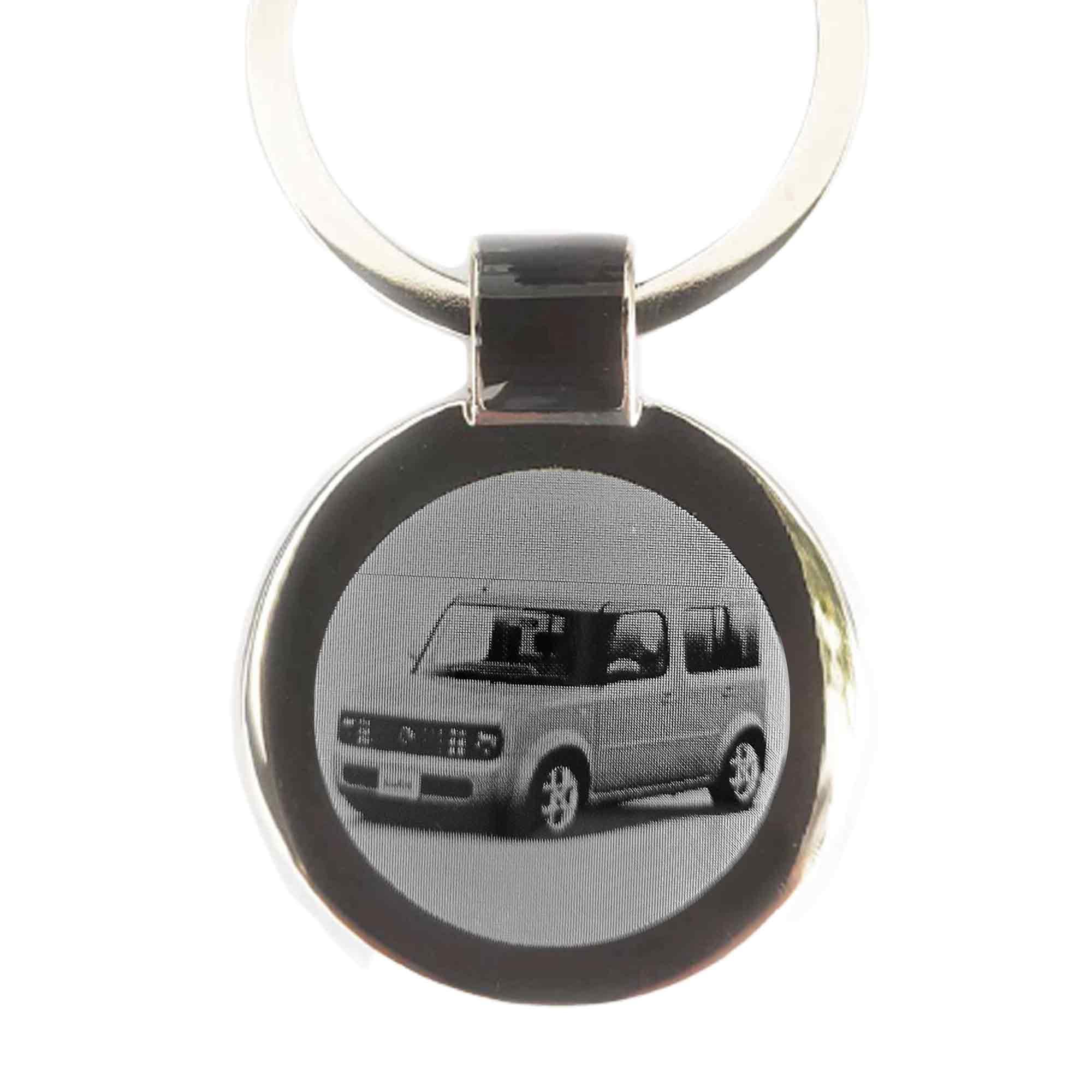 Nissan Cube Gravur Schlüsselanhänger Cube als Fotogravur eigener Textgravur
