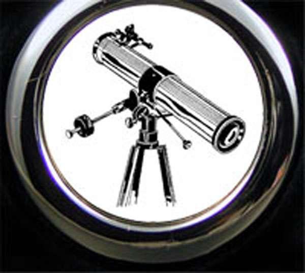 Astrologe Teleskop Schlüsselanhänger personalisiert