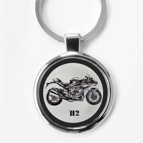 Kawasaki Ninja H2 Gravur Schlüsselanhänger personalisiert - original Fotogravur