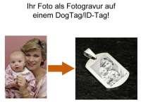 Edelstahl IDTag mit Fotogravur