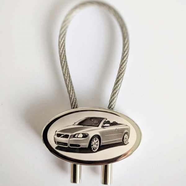 Volvo C70 Schlüsselanhänger personalisiert - original Fotogravur