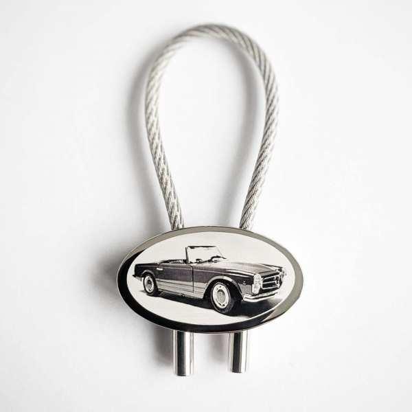 Mercedes SL Pagode Gravur Schlüsselanhänger personalisiert - original Fotogravur
