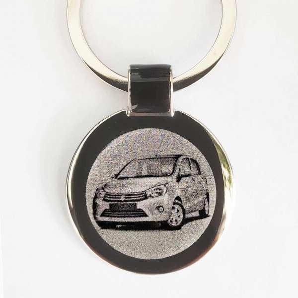 Suzuki Celerio Gravur Schlüsselanhänger personalisiert - original Fotogravur