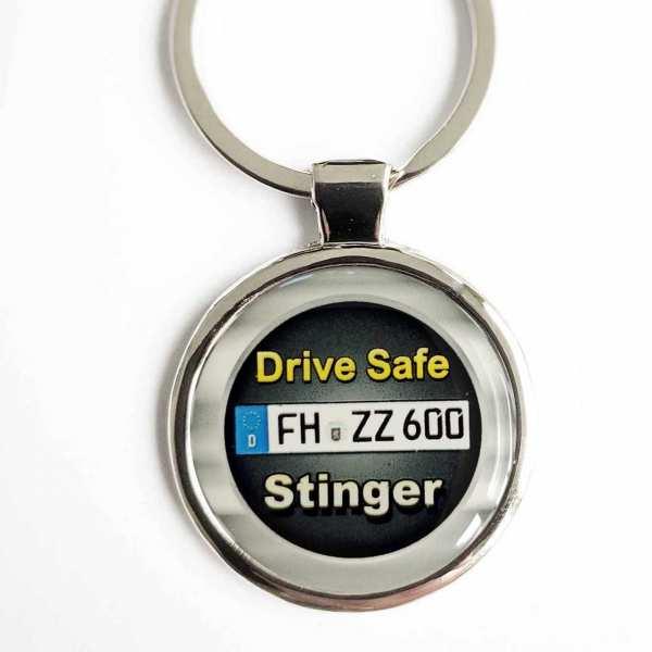 Kia Stinger Drive Safe Schlüsselanhänger & Kennzeichen & Gravur
