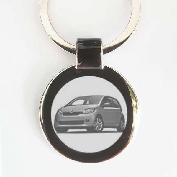 Skoda Citygo Schlüsselanhänger personalisiert mit Gravur