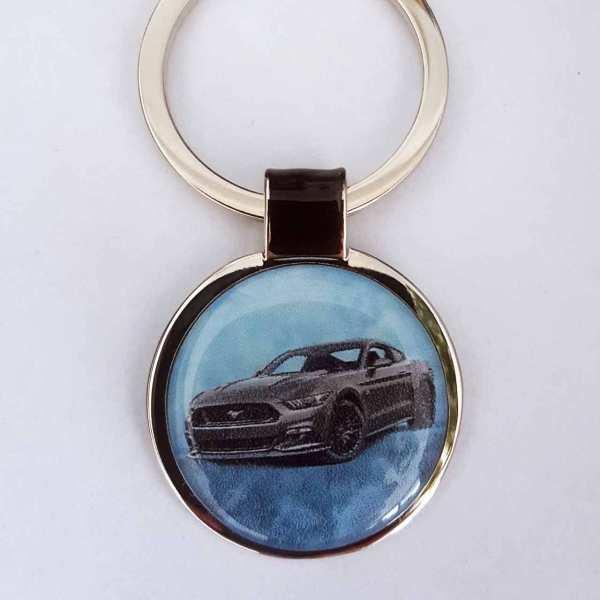 Ford Mustang GT Gravur Schlüsselanhänger personalisiert
