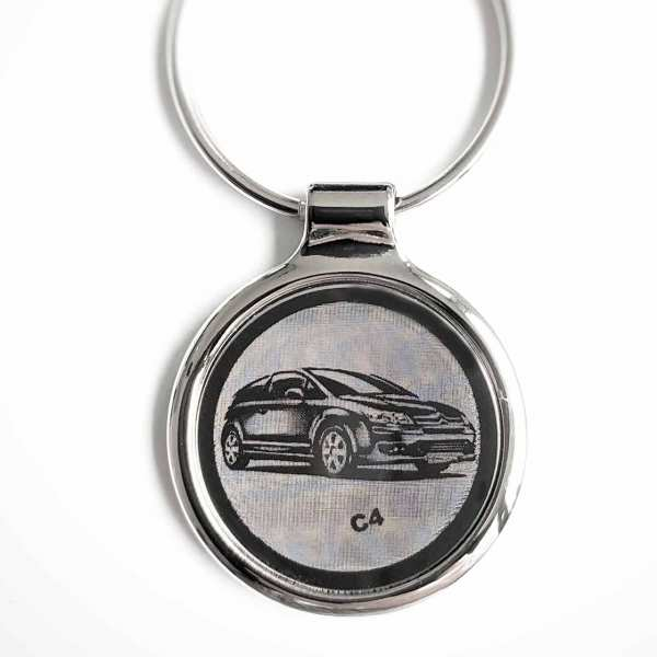 Citroen C4 Gravur Schlüsselanhänger personalisiert - original Fotogravur