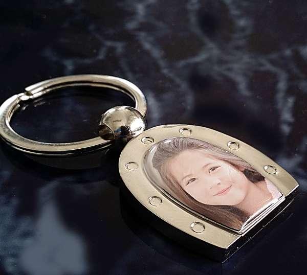 Hufeisen Schlüsselanhänger mit Foto und Gravur