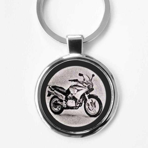 Honda Varadero XL125 Gravur Schlüsselanhänger personalisiert - original Fotogravur