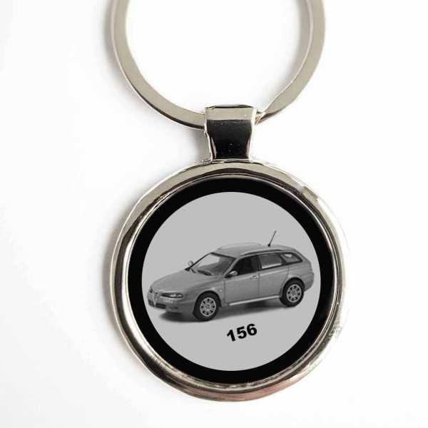 Alfa Romeo 156 Gravur Schlüsselanhänger personalisiert