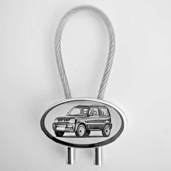 Suzuki Jimny Schlüsselanhänger personalisiert - original Fotogravur