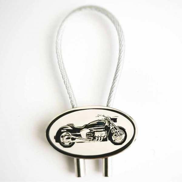 Honda Valkyrie Gravur Schlüsselanhänger personalisiert - original Fotogravur