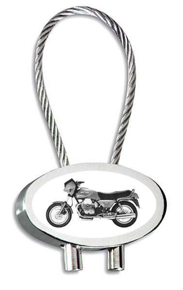 Moto Guzzi 850T5 Motorrad Schlüsselanhänger mit Gravur