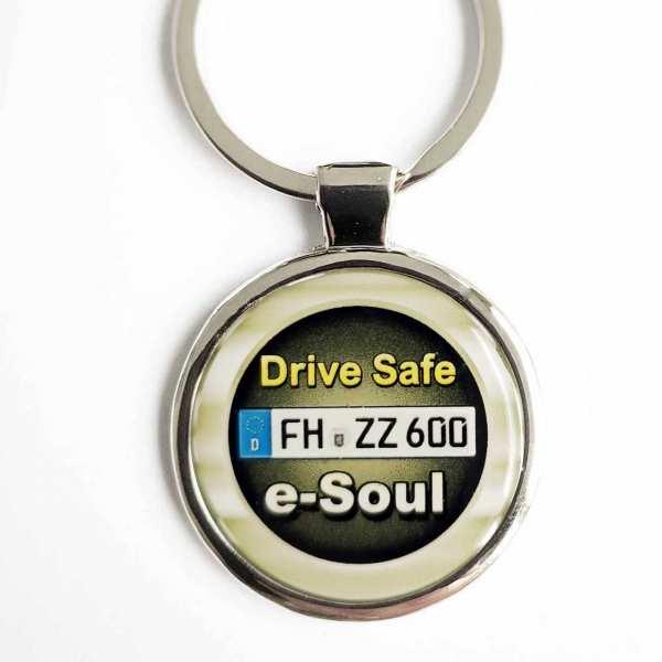 Kia e-Soul Drive Safe Schlüsselanhänger & Kennzeichen & Gravur
