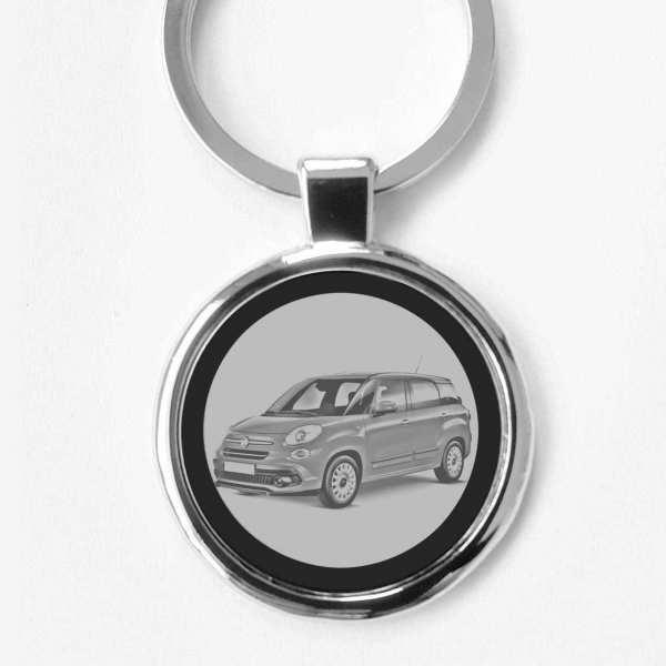 Fiat 500l Wagon Schlüsselanhänger personalisiert
