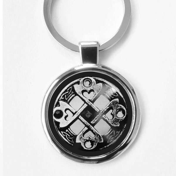 Keltisches Kreuz Herzsymbol Schlüsselanhänger personalisiert
